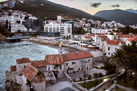 Red roofs of Budva in Montenegro