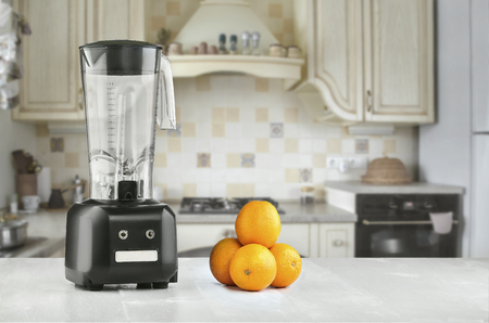 The electric blender for make fruit juice or smoothie Stock Photo