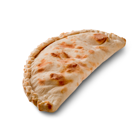 Cheburek, meat in dough isolated on white background Stock Photo