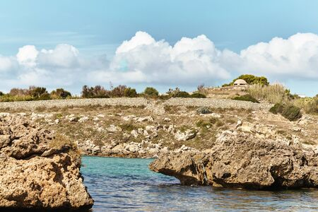 Breathtaking natural landscapes and seaside of Puglia, Italy. Stockfoto - 128587149