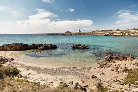 Breathtaking natural landscapes and seaside of Puglia, Italy.