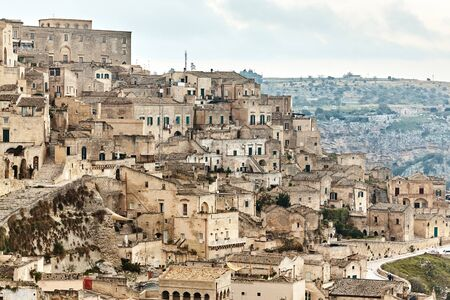Breathtaking view of the ancient town of Matera, southern Italy. 版權商用圖片