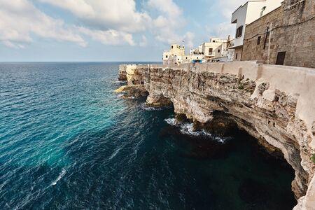 Beautiful scenery of Polignano a Mare, town in the province of Bari, Puglia. Banco de Imagens