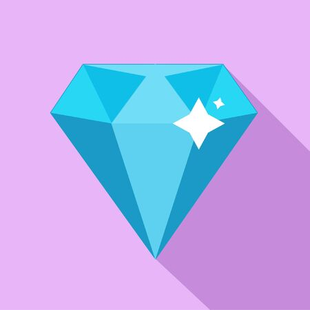 Blue diamond on a pink background. Vector illustration. Close-up. Gambling entertainment, poker, casino. Illusztráció