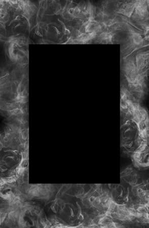 Frame of blurred bright burning hot fire flames against black background. Close up, copy space for your design, text or images 版權商用圖片 - 151849960