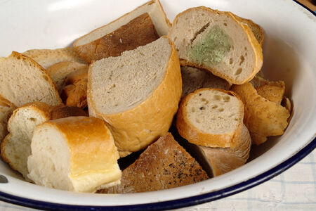 stale: stale bread Stock Photo