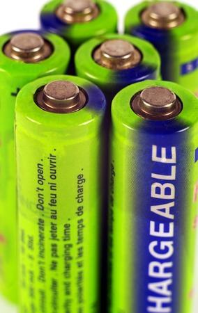 nimh: closeup of a rechargeable batteries