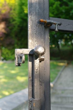 latch: latch in a iron gate