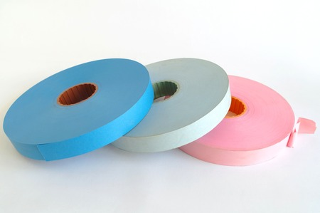 punched: new unused punched tapes Stock Photo
