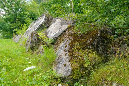 abolition: ruins of the fort Zniesienie in Przemysl Poland