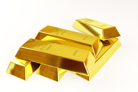 goldbar: gold bars stack on a white background