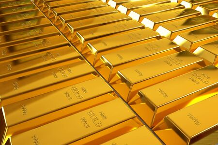 goldbars: rows of rendered gold bars in a perspective view