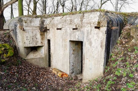warzone: old concrete bunker from the time of World War I