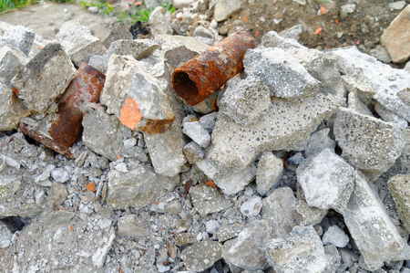 scrap heap: closeup of the heap of rubble and scrap Stock Photo