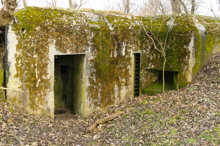 warzone: old mossy concrete bunker from the time of World War I