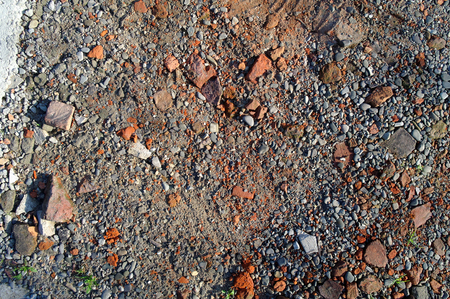 crushed debris on the ground as texture