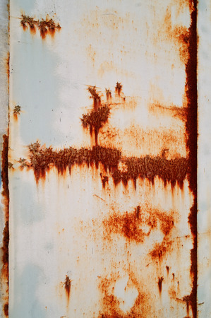 partially corroded coated sheet with a bruises