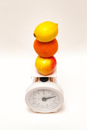 balanced diet: Concepto de p�rdida andweight dieta equilibrada