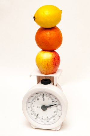 alimentacion balanceada: Concept of balanced diet andweight loss