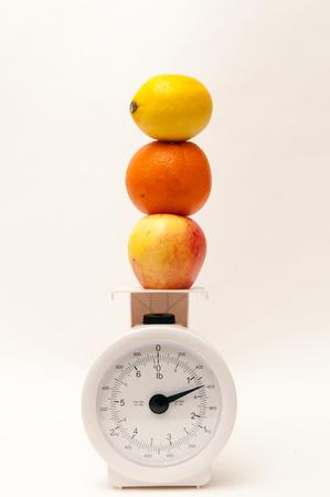 alimentacion equilibrada: Concept of balanced diet andweight loss