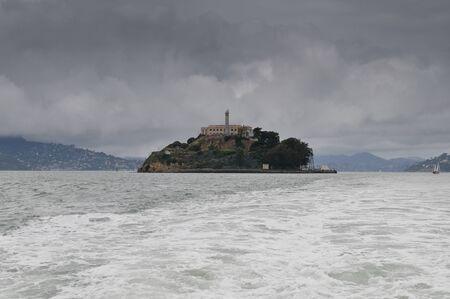 escape from prison: Alcatraz from a boat