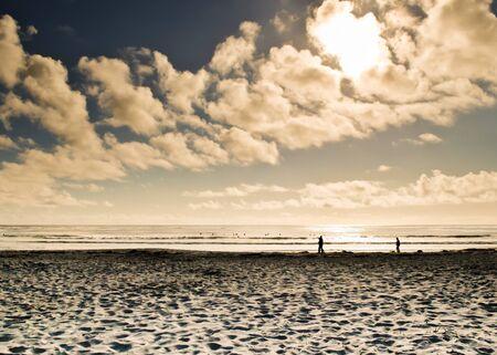 Sunlight reflecting on the sea the beach