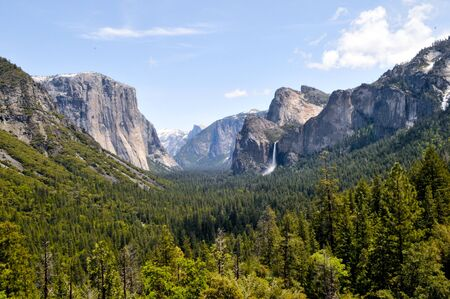 angle view: Wide angle view of Yosemite Stock Photo