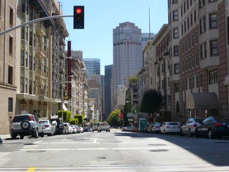 san fran: Quiet San Fran street with no traffic