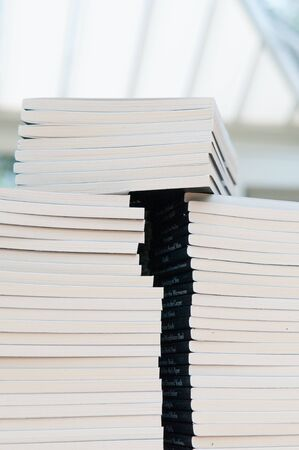 learing: Pile of books Stock Photo