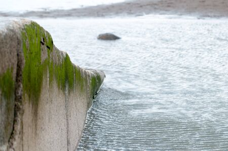 slipway: Slipway for launching boats and lifeboats into the sea Stock Photo