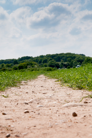 rambling: Low angle view of a country footpath through a field