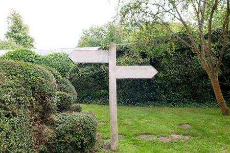 signpost with empty space to add text