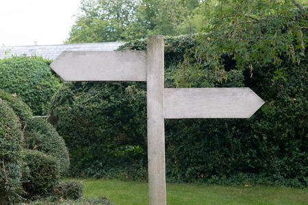 empty space: signpost with empty space to add text