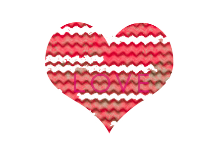 Valentines day heart. Love Heart shape on natural background