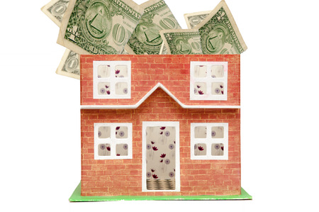 real estate and property prices concept showing the cost of houses Stock Photo