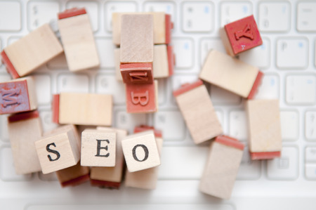 meta: seo marketing and optimization for business results Stock Photo