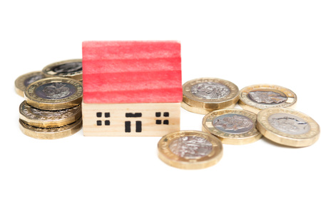 Property markets and house prices concept Stockfoto