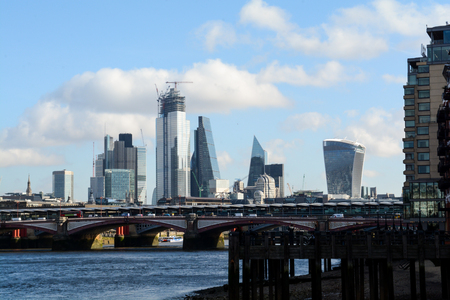 Urban landscape of London city skyline over the river Thames Reklamní fotografie
