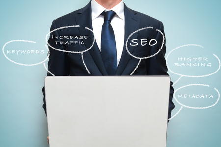 SEO marketing and strategy concept for business Stock Photo