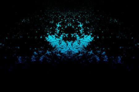 Abstract blue background pattern on black background