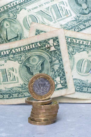 British pound stering with usa dollar to show exchange rate between countries