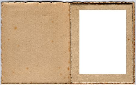 1920s card photo frame. Ideal for nostalgia based scrapbooking projects Stock Photo