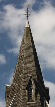 capping: Steeple of Christian church
