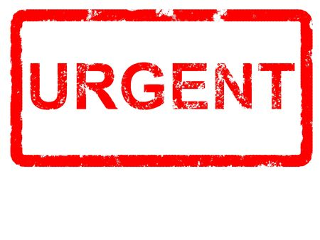 Grungey rubber stamp stating URGENT with copyspace Stock Photo
