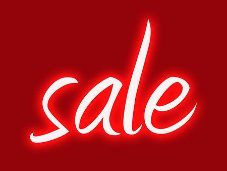Red retro style shop window sale sign  Banque d'images