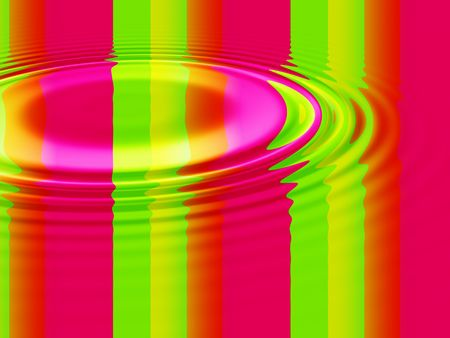 ripple effect: Colourful abstract vertical stripes and bars with water ripple effect