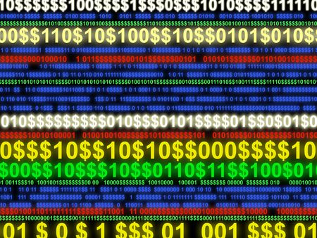 Abstract image representing electronic money transfer