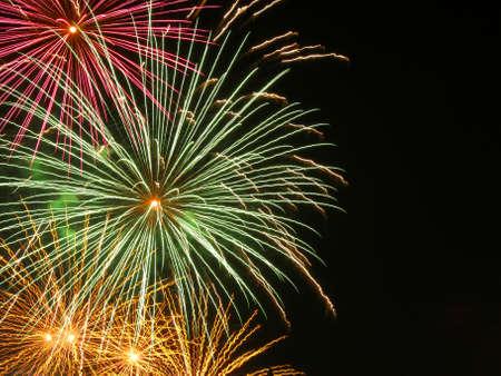 Firework burst and copyspace