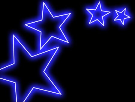 Swoosh of blue stars glowing in neon style Stock Photo - 4831628