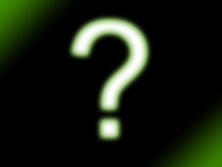 question mark in green neon glow style Stock Photo - 4831619